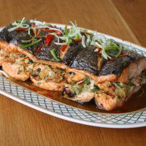 Roast oriental salmon